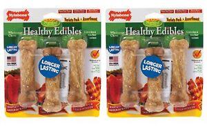 NB Nylabone 2 Pack of Healthy Edibles Regular Variety Pack, 3 Bones Per Pack
