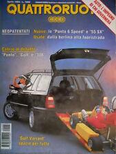 Quattroruote 462 1994 Nuove: le Punto 6 Speed e 55 SX. Cabrio: Punto, Golf [Q.8]