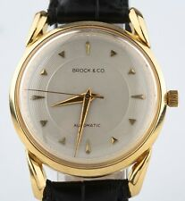 Vintage 18k Yellow Gold Men's Brock & Co. Automatic Watch w/ IWC Movement