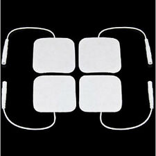 4 Quadrato Self Adesivo Riutilizzabile lunga vita decine MACCHINA ELETTRODO PADS 4 x 4 cm