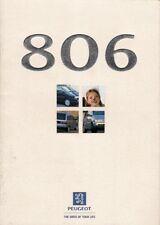 Peugeot 806 1998-99 UK Market Sales Brochure SL SR SV 2.0 DT