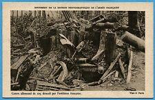 CPA: Canon allemand de 105 démoli par l'artillerie française / Guerre 14-18