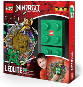 LEGO Ninjago Green Night Light - LED NiteLite with Lloyd Wall Decals!! New!!