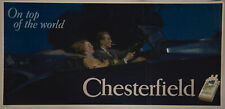 1930s Chesterfield Cigarettes Trolley Car Poster Sign Flapper Girl C C Chambers