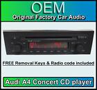 AUDI A4 Reproductor de CD, CONCIERTO radio coche Unidad Principal con la