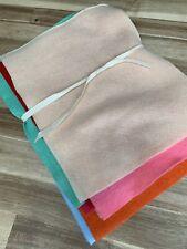 Multiple Felt Fabric 12 Sheets - Assorted Colours Approx 30cm X 23cm