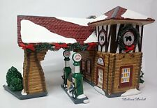 "Dept 56 Snow Village ""Last Stop Gas Station"" Retired 2001"