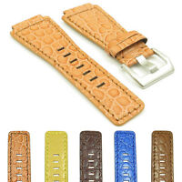 DASSARI Boulder Alligator Embossed Leather Watch Band Strap for Bell & Ross 24mm