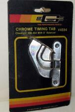 """Mr Gasket New Chrome Timing Tab 4594 Chevrolet 396-454 With 8"""" Balancer"""