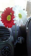 Double Gerbera Daisy Dashboard Car Flower for VW Beetle Bug Fiat Mini Vase +Gift