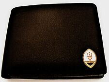 Maserati Italian Leather Bi Fold Men's Black Wallet