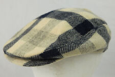Vintage Woorich Men's Medium White & blue Plaid Cabbie Gatsby Style Hat Newsboy