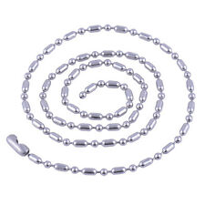 Stainless Steel 28 Inch 2.4mm Ball Cylinder Link Neck Chain Necklace
