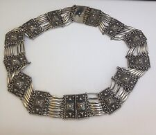 """Vintage Mexican Silver Hand Made Belt  27"""" Long 259.0 Grams"""