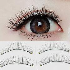 10Pairs Middle short Crisscross Natural  False Eyelash Handmade Fake Eye Lashes