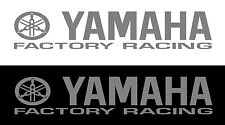 Yamaha Factory Racing sticker / decal 300mm x 72mm , Metallic Silver etc.