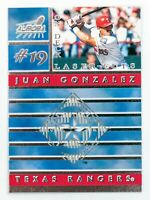 Juan Gonzalez #19 (1999 Pacific Aurora) On Deck Laser-Cuts, Texas Rangers