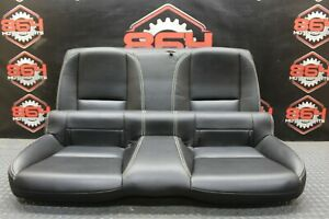 2013 CHEVROLET CAMARO SS OEM BLACK LEATHER REAR SEATS COUPE SEAT NICE #43