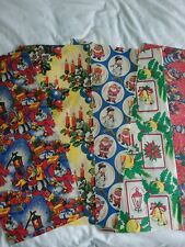Vintage Retro Christmas Wrapping Paper - 5 Different Sheets, New Original Stock