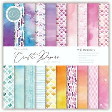 "New Craft Consortium 6"" x 6"" Paper Pad Craft Papers - Watercolours"