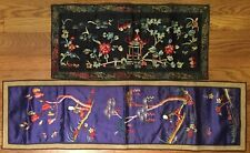 Two Antique Chinese embroidery pieces.