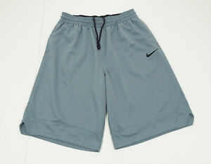Nike Dri-Fit Icon Gray Training Basketball Workout Shorts Mens XLT