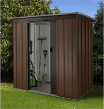 Yardmaster Tall Woodgrain Pent Metal Shed - 6ft x 4ft. From Argos