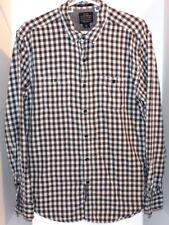 6b4c67f86 Lucky Brand Mens Black White Checkered Long Sleeve Classic Fit Button Shirt  - L