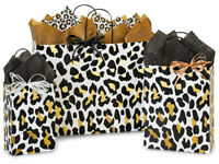 GOLDEN LEOPARD Design Party Gift Paper Bag ONLY Choose Size & Pack Amount