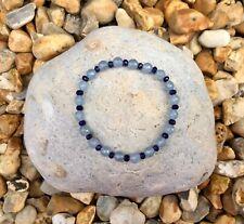 SKY BLUE JADE Semi Precious Gemstone Bracelet ~ by Lola & Lily Rose 🌹