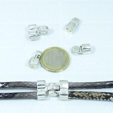 3 Cierres Magnéticos 23x15mm  T533  Plata Tibetana Clasps Spange Leather Beads