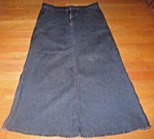 DKNY Jeans Women's Skirt Denim Long Maxi Boho Peasant Zip Sides size 7 or 28 w