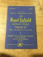 "Royal Enfield 1959 ""Prince"" 148cc Spring Frame 2-stroke Parts List"