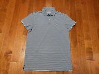 Vineyard Vines Performance blue Stripe Golf Polo Shirt Men M Polyester Stretch