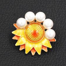 Islamic Muslim Brooch Pin Gift Betsey Johnson Enamel Pearl Sunflower Charm