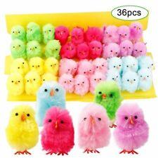 Mini Chicken For Easter Festival Artificial Ornament Kids Party Cute Decor 36pcs