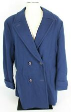 Vintage Pendleton Womens Xl Blue Wool Double Breasted Peacoat Lined Coat Jacket