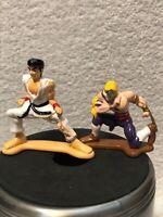 Vintage Street Fighter 1993 Metal Mini Figure Lot of 2 Ryu Hoshi vs Vega