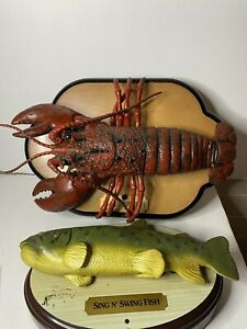 Swing N Sing Fish & Big Mouth Larry Lobster. Both in working condition