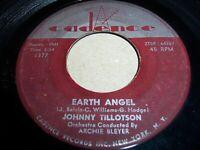 "JOHNNY TILLOTSON- EARTH ANGEL- 1959 ROCK 7"" SINGLE 45 RPM, CADENCE 1377 (VG-/VG)"