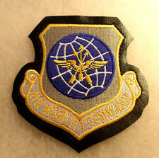 1980'S A/F AIR MOBILITY COMMAND OBSOLETE PATTERN W/ YELLOW MOTTO ON LIKE LEATHER