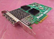 QLE2564 - QLogic 8GB Quad FC Ports PCI-Ex8 SP HBA w/ 4x 8GB GBICs - PX4810402-06