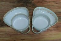 LTD Commodities Set of (2) Drip Glazed Stoneware Soup Chip and Dip Bowl Plate