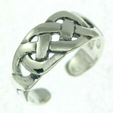 Size, 925 Solid Sterling Silver, tr50/7 Celtic Knot Plain Silver Toe Ring, Free