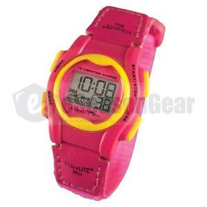 VibraLITE MINI 12 Vibrating Alarm Small Watch for Kids/Children, Pink VM-VPN #25
