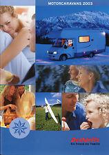 Prospectus Dethleffs Moteur Caravane 2003 catalogue voyage mobile brochure camping-cars