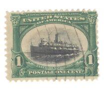 Scott 294 Early US Stamp 1c Lake Navigation...1901  Pan American...
