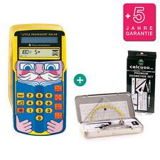 TI Little Professor Taschenrechner + GeometrieSet und Garantie
