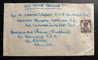 1945 RAF Base In India OAS Censored Airmail Cover To Air Command Calcutta