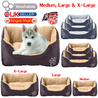 Pet Dog Bed Warm Large Dog House Soft Dog Nest Basket Kennel For Cat Puppy UK